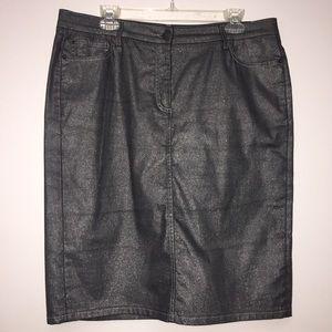 EUC Gunmetal Gray with Shimmer Boden Skirt Sz 12R